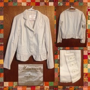 Cream colored blazer by Maurices size XL